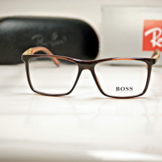 Rama de ochelari de vedere Hugo Boss 0708 C4 - Rama ochelari Hugo Boss, Unisex, Dreptunghiulare, Plastic, Rama intreaga, Fashion