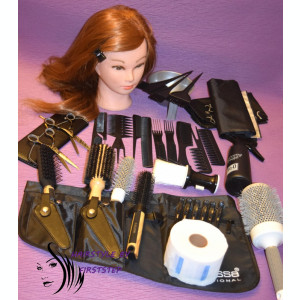 Set kit frizerie coafor complet foarfeca tuns filat profesionala cap practica