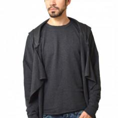 Hanorac barbatesc negru cu extensii laterale - Hanorac barbati, Marime: L