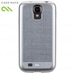 Husa tip Carcasa Samsung Galaxy S4 I9500 - Case Mate Real Carbon Fiber - Husa Telefon Case-Mate, Argintiu