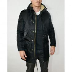 Geaca Tony Backer Model Casual - Lung - Iarna - Cod Produs 16923 - Geaca barbati Zara, Marime: L, XL, XXL, Culoare: Negru, Microfibra