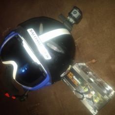 Casca ski SH+ 60-61 cm +camera video ATC dual lens+ ochelar ski