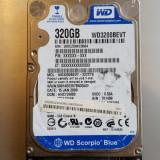 43.HDD Laptop 2.5 SATA 320 GB Western Digital 5400 RPM 8 MB
