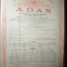 Asigurare ADAS 1962, pt.accidente