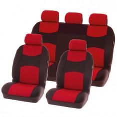 Huse scaune Dacia Logan Sedan set huse auto fata si spate Chicago Red - Husa scaun auto