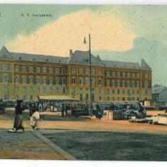 3586 - Bucovina CERNAUTI, Market, Justice Palace - old postcard - used - 1909 - Carte Postala Bucovina 1904-1918, Circulata, Printata