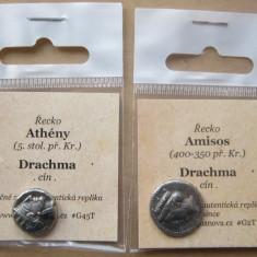 Replici de monede antice grecia (din staniu) - Moneda Antica