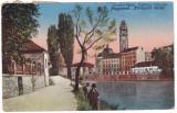 #1842- Romania, Oradea, Nagyvarad cp. circulata 1922: Detaliu, malurile Crisului, Fotografie
