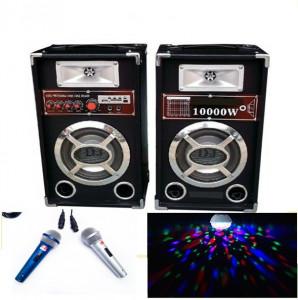 PROMOTIE BLACK FRIDAY!SISTEM KARAOKE BOXE ACTIVE,MIXER,MP3 USB,MICROFOANE+LUMINA