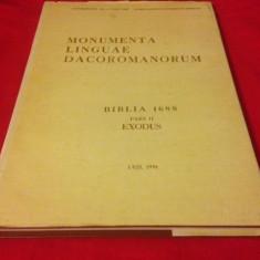 BIBLIA 1688- CARTEA A DOUA, IEȘIREA - Carti Istoria bisericii