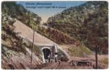 #1849- Ro, salut. Valea Viseului Maramures cp. necirc. 1919:  Tunelul, animat