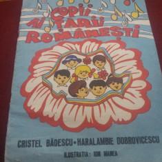 CRISTEL BADESCU - COPII AI TARII ROMANESTI CANTECE - Carte poezie copii