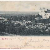 Romania, Maria Radna carte postala circulata 1903: Panorama