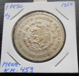 MEXIC 1 Peso 1957-1967 Silver – 16 g – ø 34.5 mm KM# 459, America de Nord, Argint