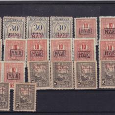 ROMANIA 1918, LOT TIMBRE MVIR - Timbre Romania, Nestampilat