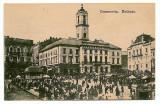 2352 - Bucovina, CERNAUTI, Market - old postcard - unused, Necirculata, Printata