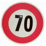 Indicator limita de viteza 70 km, autocolant fi 210mm