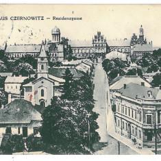 3577 - Bucovina CERNAUTI, Panorama - old postcard, Military CENSOR - used - 1910 - Carte Postala Bucovina 1904-1918, Circulata, Printata