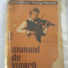 MANUAL DE VIOARA , VOL 2 , GEANTA  MANOLIU