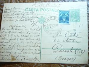 Carte Postala cu 3 lei Carol II marca fixa ,circ.Bucuresti-Dirste jud.Brasov1936
