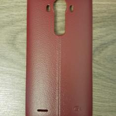 Capac spate visiniu din piele pentru LG G4 cu suport NFC - Capac baterie