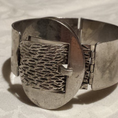 Bratara argint 800 O.P.ORLANDINI Italia Masiva model Catarama Curea Unicat Lux