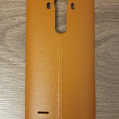Capac spate maro din piele pentru LG G4 cu suport NFC - Capac baterie