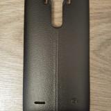 Capac spate negru din piele pentru LG G4 cu suport NFC