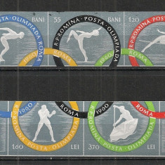 Romania.1960 Jocurile Olimpice ROMA I nedantelate  AX.255