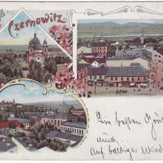 1914 - Litho, Bucovina, CERNAUTI - old postcard - used - 1898 - Carte Postala Bucovina pana la 1904, Circulata, Printata
