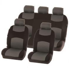 Huse scaune Dacia Logan Sedan set huse auto fata si spate Chicago Grey - Husa scaun auto