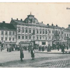 3583 - Bucovina CERNAUTI, Market - old postcard, CENSOR - used - Carte Postala Bucovina 1904-1918, Circulata, Printata