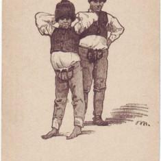 1629 - MOLDOVA, Port Popular din Carpatii Orientali - old postcard - unused - Carte Postala Moldova 1904-1918, Necirculata, Printata