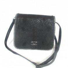 Geanta dama neagra Chanel +CADOU, Culoare: Din imagine, Marime: Medie, Geanta de umar, Negru, Asemanator piele
