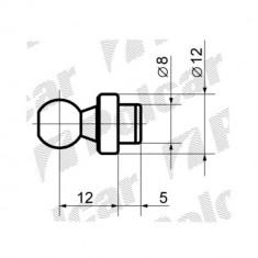 Cap echilibror hayon bolt cu cap bila M8/ M12, set 2 bucati pentru amortizor, 5x12mm - Capota
