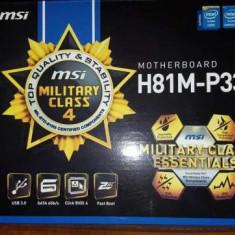 I7 4790k+16 gb ram +placa de baza MSI H81M-E33-kit Gaming – nou sigilat, LGA 1150, Contine procesor