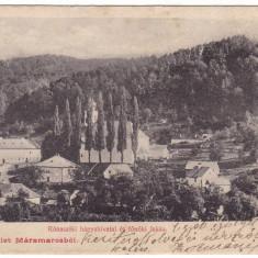 #1847- Romania, Ronaszek, Costiui carte postala circul. 1905: Institutul Minier - Carte Postala Maramures 1904-1918, Circulata, Fotografie