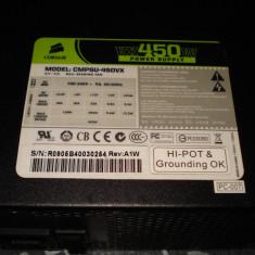 Sursa calculator Corsair VX 450 W putere reala, foarte silent - Sursa PC Corsair, 450 Watt