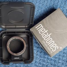 METABONES - inel adaptor profesional Nikon F-mount - Sony E mount - Inel adaptor obiectiv foto