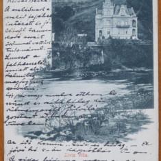 Baile Herculane, Castelul, circulata, 1900, clasica - Carte Postala Banat pana la 1904, Printata