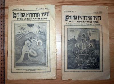 LOT 3 REVISTE RELIGIOASE -LUMINAPENTRU TOTI 1937,39 , PASTORUL ORTODOX 1935 foto