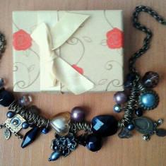 Colier Meli Melo vintage si cutie bijuterii cadou - Colier fashion
