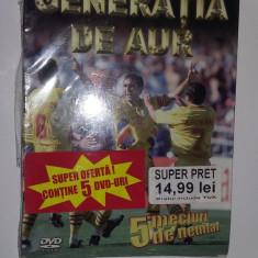 DVD GENERATIA DE AUR, 5 MECIURI DE NEUITAT - DVD fotbal
