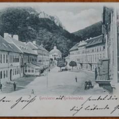 Baile Herculane, circulata, 1900, clasica - Carte Postala Banat pana la 1904, Printata