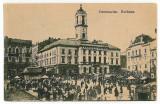 2215 - Bucovina, CERNAUTI, Market - old postcard - unused, Necirculata, Printata
