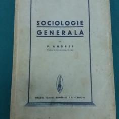 SOCIOLOGIE GENERALĂ/ PETRE  ANDREI/ 1936