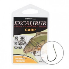 Carlige Crap Excalibur Method Feeder NS NR 12 - Plumbi Pescuit