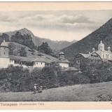Romania, Roter Tutmpass, Turnu Rosu, cp. necirc. 1917: Manastirea Turnu