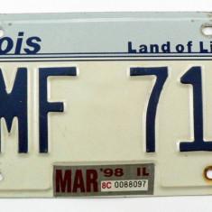 Numar de inmatriculare vechi - Ilinois - USA - Metal/Fonta