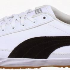 37.5_Adidasi Originali PUMA_pentru femei_cu piele_tenisi dama_alb_cutie